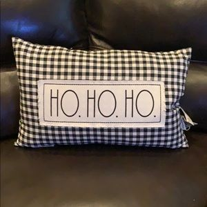 ✨NEW! Rae Dunn 'Ho Ho Ho' Pillow